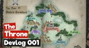2D Game – The Throne – Dev Log 001 (Unreal and Blender)