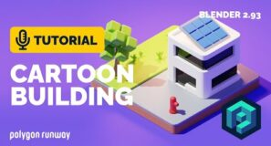 Cartoon Building Tutorial in Blender 2.93 | Polygon Runway