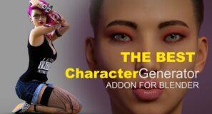the best character generator addon for blender
