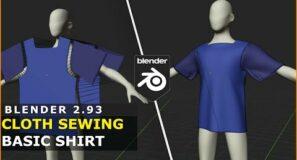 Blender | Cloth Sewing | Basic Shirt Tutorial