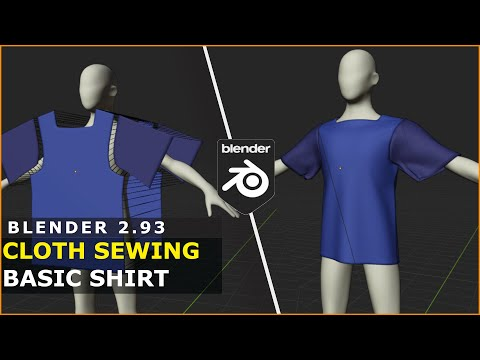 Blender   Cloth Sewing   Basic Shirt Tutorial