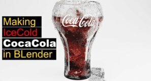 creating an ice cold glass of cocacola in blender