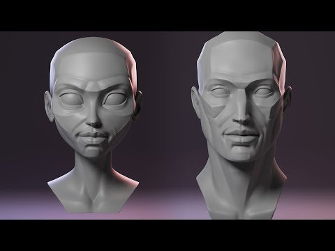 Sculpting The Planes of the Head Tutorial