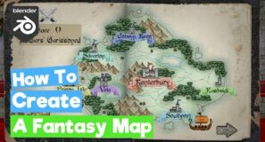 Blender Grease Pencil: How to Create a Stylized Fantasy Map (/Gimp)