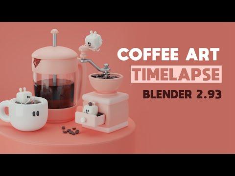 Coffee Art Timelapse – Blender 2.93