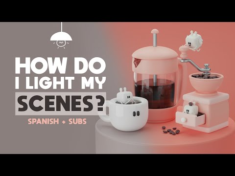 HOW DO I LIGHT MY 3D SCENES? Spanish + ENG Subs