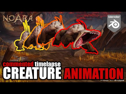 Creature animation in Blender – Commented Timelapse