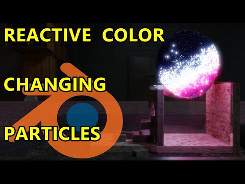 Reactive Color Changing Particle Fluids – Blender