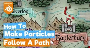 Blender 2.90 Tutorial: How to Make Particles Follow a Path (Animation)