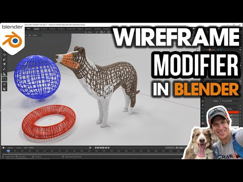 How to use the WIREFRAME MODIFIER in Blender!