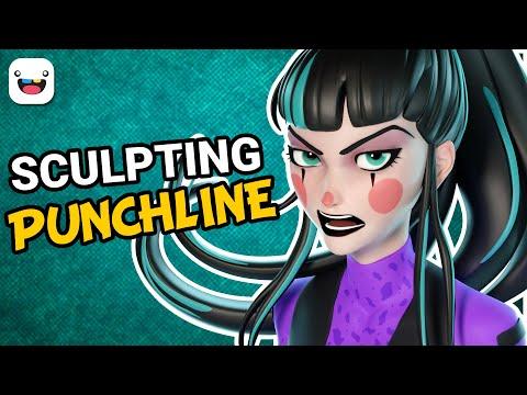 3D Sculpting Punchline from DC Comics