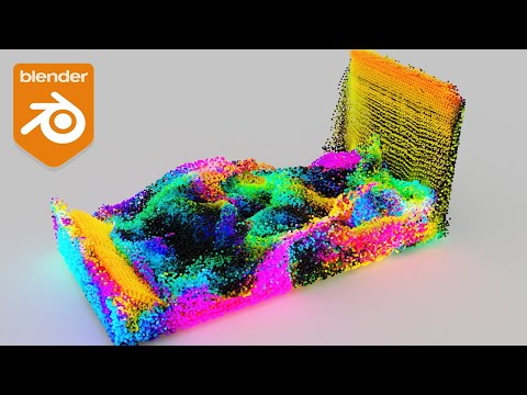 How to Create Colorful Fluid Particles in Blender