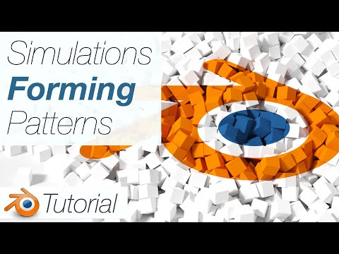 [2.93] Blender Tutorial: Objects Forming Patterns and Images, Physics Simulation