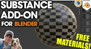How to Use the New SUBSTANCE 3D Add-On for Blender! (Plus…FREE MATERIALS!)