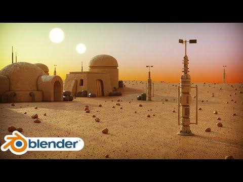 Tatooine Environment-Part 1 (Blender Tutorial)