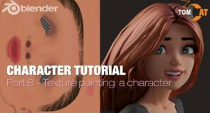 Blender Complete Character Tutorial  – Part8 – Texture painting a character
