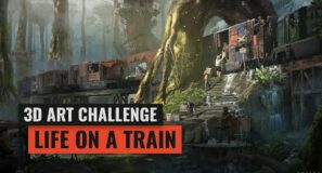 New 3D Art Challenge: Life on a Train