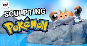 3D Sculpting Pokemon 🦀 Krabby 🦀