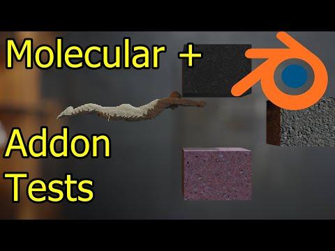 Molecular Plus Addon Test Sims – Blender