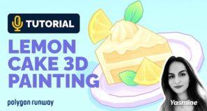 3D Painted Lemon Cake Tutorial in Blender 2.93 | Polygon Runway