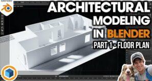 Architectural Modeling In Blender Part 1 – Modeling from a FLOOR PLAN