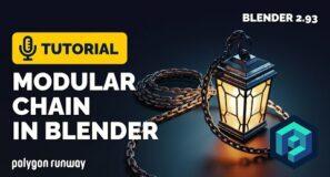 Modular Chain Tutorial in Blender 2.93