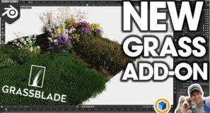 New GRASS ADD-ON for Blender! How good is GrassBlade?