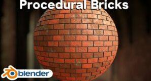 Procedural Brick Material (Blender Tutorial)
