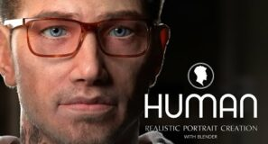 First Look at HUMAN: Realistic Portrait Creation Course with Blender