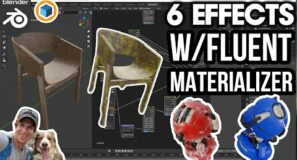 6 AMAZING Material Effects with Fluent Materializer for Blender!