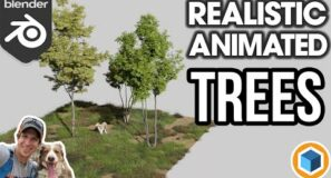 Creating REALISTIC Animated Trees with the Tree/Vegetation Add-On for Blender!