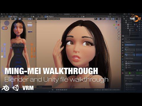 Ming Mei Rigged Woman Blender & Unity Intro Walkthrough