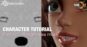 Blender Complete Character Tutorial – Part10 – Roughness Map -v2