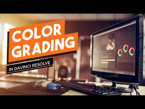 Color grading with DaVinci Resolve