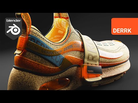 Texturing a Shoe in Blender