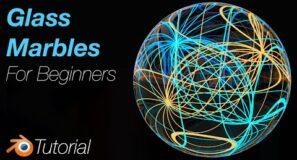 [2.93] Blender Tutorial: Quick Glass Marbles for Beginners