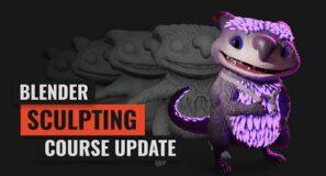 Master 3D Sculpting in Blender – Big Course Update (Trailer)