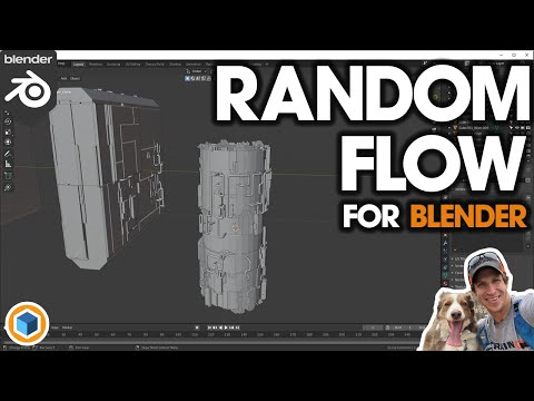 RANDOM FLOW for Blender! Panels, Piping, Random Extrusions, and More!