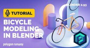 Bicycle Modeling Tutorial in Blender 2.93 | Polygon Runway
