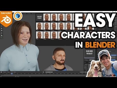 EASY 3D Characters in Blender with Human Generator!