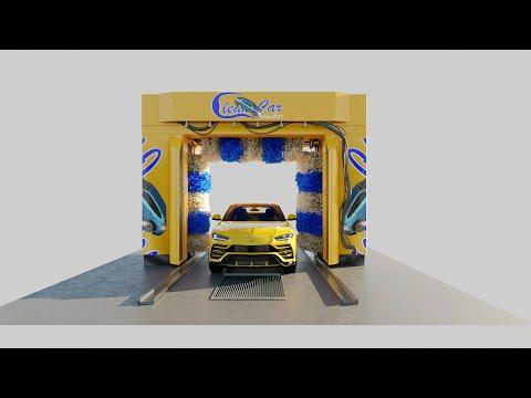 modeling a car washing machine in blender
