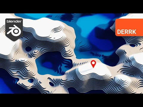 Build a Stylized Topographic Landscape in Blender