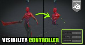 Visibility character features controller rig in Blender