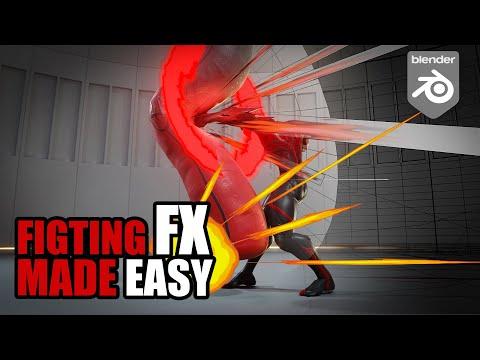Stylised fighting FXs in Blender – step by step tutorial