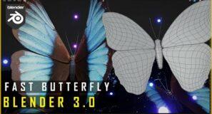 Blender   FAST Butterfly Modelling   Tutorial