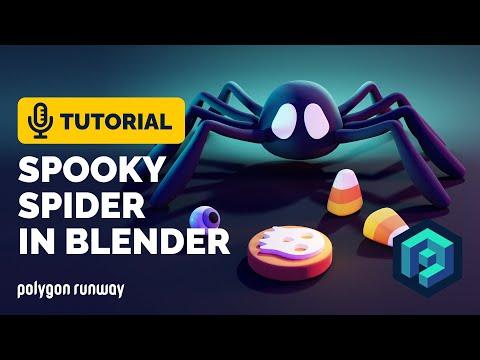 Spooky Spider Tutorial in Blender 2.93   Polygon Runway