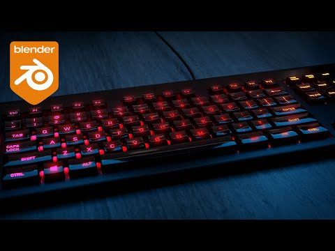 How to Create an RGB Keyboard in Blender in 10 Min!