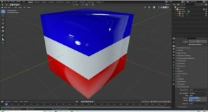 Blender 2.92 Tutorial: How To Color Different Areas Of An Object Using Face Select In Edit Mode.