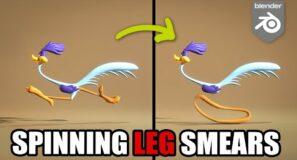 Road Runner legs Spinning Smears – Blender Rigging tutorial
